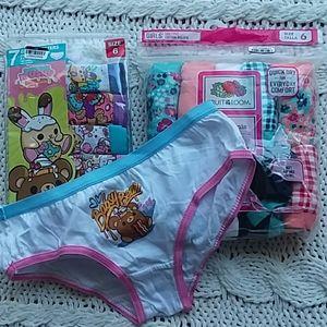 Girls bundle underwear, 6, 17 pair!